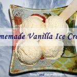 Healthy Homemade Vanilla Ice Cream