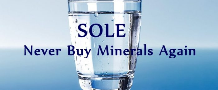 SOLE Himalayan Salt Water – Never Buy Minerals Again!