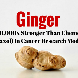 New Study: Ginger is 10,000x Stronger Than Chemo (Taxol) in Cancer Research Model